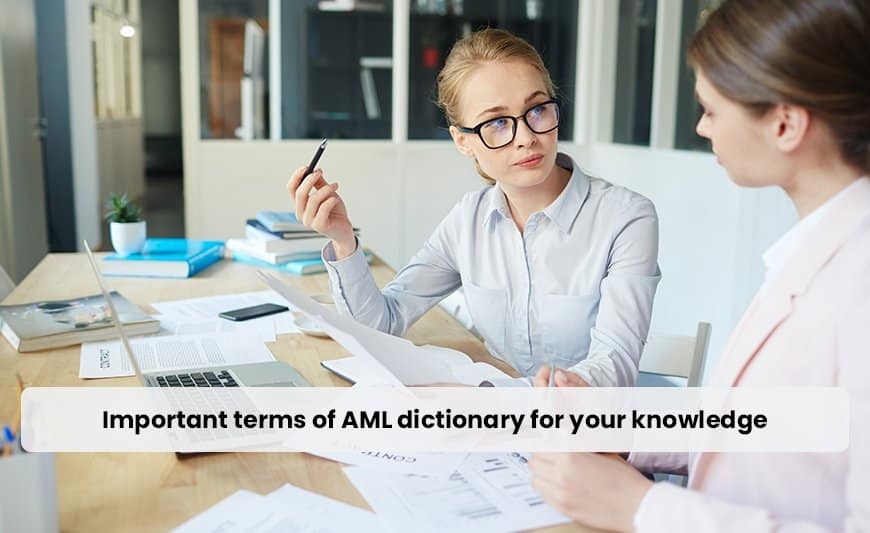 important terms of aml for dictionary for your knowledge